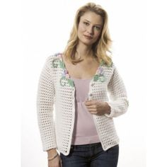 Camelia Cardigan- A light, lace cardigan with floral embroidery. Small to 2X