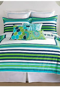 Trina Turk Huntington Stripe Bedding Collection #belk #bedding #trinaturk