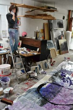 Mílica Reinhart  I wish I had the space I need to paint large... without dog hair getting all over the damn place. Tara Tominaga | Writing | Artist | Photographer | Studio  www.taramtominaga.com