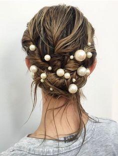 Bride Hairstyles, Summer Hairstyles, Trendy Hairstyles, Updo Hairstyle, Mermaid Hairstyles, Fashion Hairstyles, Long Haircuts, Hairstyles Videos, Hairstyles 2018