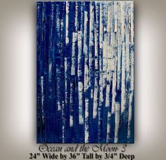 Blue Large Fine Art Painting Original by ContemporaryArtDaily, $269.00