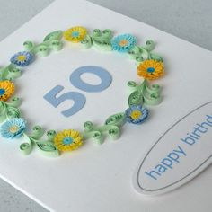 50th birthday card £6.50