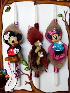 Λαμπάδες Disney Mickey-Minnie Comic, Christmas Ornaments, Stars, Holiday Decor, Disney, Home Decor, Decoration Home, Room Decor, Comic Strips