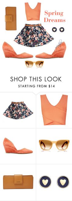 """""""Spring Dreams"""" by yviestyle ❤ liked on Polyvore featuring BCBGMAXAZRIA, Sole Society, Persol, FOSSIL, Brooks Brothers and bringbackspring"""