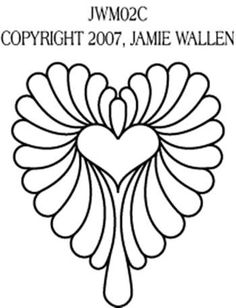 Feathered Heart #2 Variation by Jamie Wallen JWM02C
