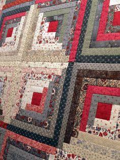 64 ideas for antique quilting patterns scrap Patchwork Log Cabin, Log Cabin Quilt Pattern, Log Cabin Quilts, Rag Quilt, Patch Quilt, Antique Quilts, Vintage Quilts, Édredons Cabin Log, Star Quilt Blocks