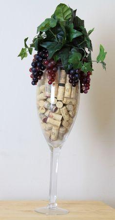 Wine Lovers Cork Conversational Piece // Wine Gift // Unique Wine Gifts // Wink Cork Crafts // Wine Corks Decorations. $75.00, via Etsy.
