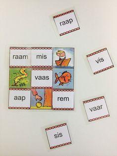 Woordmatten kern 1 t/ 10 - Karma Sprüche Speech Language Therapy, Speech And Language, Karma, Busy Boxes, Creative Teaching, Preschool Worksheets, Circuit, Homeschool, Lettering