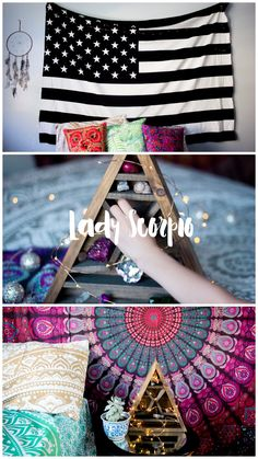 I'm in LOVE with bracelet & room☽ ✩ Save 25% off all orders with code PINTERESTXO at checkout | Bohemian Bedroom + Home Decor | Mandala Tapestries, Pillows & Gold Moon Star Wall Hanging Decor + Twilights by Lady Scorpio | Shop Now LadyScorpio101.com | @LadyScorpio101 | Photography by Luna Blue @Luna8lue
