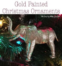 DIY Gold Animal Ornaments