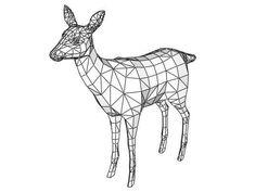 Animal Paper Model - Deer Ver.2 Free Papercraft Download - http://www.papercraftsquare.com/animal-paper-model-deer-ver-2-free-papercraft-download.html#AnimalPaperModel, #Deer