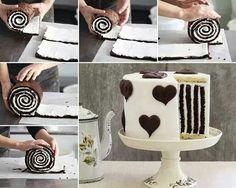 Gestreepte taart.