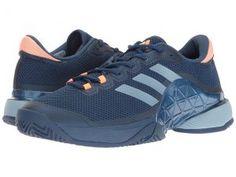 adidas Barricade 2017 (Mystery Blue/Easy Blue/Glow Orange) Men's Tennis Shoes