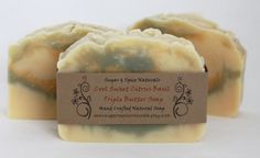 Cool Sweet Citrus Basil Triple Butter All by SugarNSpiceNaturals