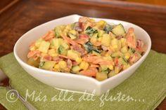 Más allá del gluten...: Ensalada de Zucchini (Receta SCD, GFCFSF, Vegana, RAW)