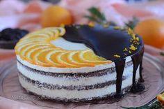 Torta od naranče sa sočnim biskvitom i čokoladnim ganažom Torte Cake, Sweet Recipes, Baking, Desserts, Food, Cakes, Tailgate Desserts, Deserts, Cake Makers