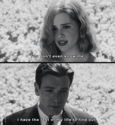 """I have the rest of my life to find out."""" - Alison Lohman and Ewan McGregor in Tim Burton's """"Big Fish"""", Big Fish Movie, Movie Tv, Ewan Mcgregor, Tim Burton, Citations Film, Queen Latifah, Movie Lines, Tv Quotes, Fish Quotes"""