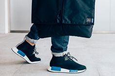 A Detailed Look at the PORTER x adidas Originals 2017 Collection: Featuring an NMD Chukka, Helmut Bag and Arno waist bag. New York Fashion, Runway Fashion, High Fashion, Urban Plus Size Fashion, Streetwear, Men's Shoes, Shoes Sneakers, Types Of Fashion Styles, Summer Outfits