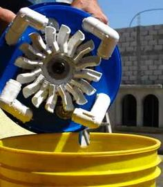 Hydro Power project in Africa to help poor. Works in a ten gallon bucket!