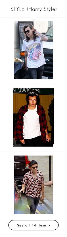"""STYLE: (Harry Style)"" by londero-danielle ❤ liked on Polyvore featuring OneDirection, harrystyles, harry, one direction, 1d, harry styles, people, home, kitchen & dining and pictures"