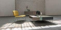 Schicke, farbenfrohe Möbel von al2.  #modern #minimalistisch #Sessel #Couchtisch #bunt #Möbel #Wohnzimmer #inspiration #einrichten #interior #furniture #livingroom #armchair