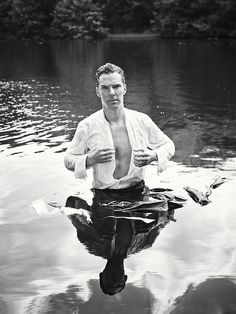 Benedict Cumberbatch Recreates Iconic Pride and Prejudice Moment for Give Up Clothes For Good charity campaign. THIS