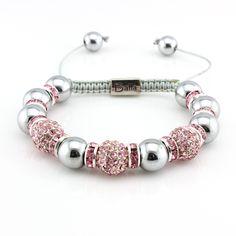 Pink Crystal Designer Balla Bracelet
