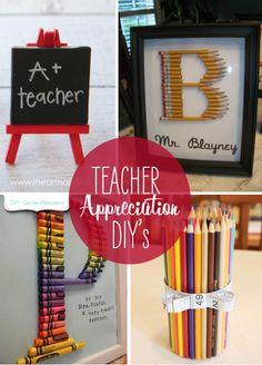 10 Teacher Appreciation Gift DIY's