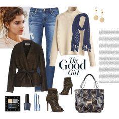 Good Girl Chic..... by shainaelaine on Polyvore featuring мода, Mauro Grifoni, AG Adriano Goldschmied, Valentino, Ashiana, Catherine Malandrino, NYX, Estée Lauder and OPI
