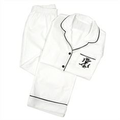 Luxury Monograms Monogrammed Ladies Pajama Set