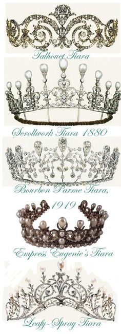 Tiaras, all different ones!