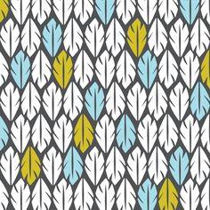 Foliar - Tropical Leaf Geometric Black B custom fabric by heatherdutton for sale on Spoonflower Textile Prints, Textile Patterns, Textile Design, Textiles, Surface Pattern Design, Pattern Art, Cute Pattern, Pretty Patterns, Color Patterns