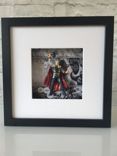 Marvel Avengers Thor Figure Boxed Frame Wall Art by BenjoCreations