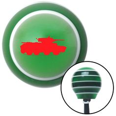 Red Military Tank Green Stripe Shift Knob with M16 x 15 Insert - Give your interior the ultimate look. American Shifter's Elite(TM) series shift knobs are made from the highest quality components resulting in a superior feel on every shift. Each shift knob is designed and customized in the USA by skilled shift knob artisans who have a trained eye on every detail. American Shifters shift knobs offers an exclusive aluminum threaded insert designed to be screwed onto your shift arm. You should…
