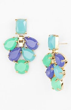kate spade new york 'boardwalk stroll' chandelier earrings available at #Nordstrom