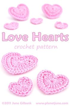 Crochet Flowers Patterns Whip up some Love Hearts with this free pattern for perfect crocheted hearts in 3 sizes plus a puffy heart. - Crochet Heart Rose Free Pattern with Video Tutorial Crochet Puff Flower, Crochet Flower Patterns, Crochet Designs, Crochet Flowers, Free Crochet Heart Patterns, Crochet Hearts, Crochet Gifts, Easy Crochet, Crochet Afghans