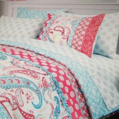 Cynthia Rowley Bedding Brown Blue Paisley Bedrooms