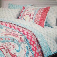Cynthia Rowley Bedding Brown Blue Paisley | Bedrooms & Bedding ... : cynthia rowley quilt twin - Adamdwight.com
