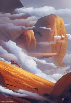 The Art Of Animation — Andi Koroveshi - . Landscape Concept, Fantasy Landscape, Landscape Art, Fantasy Places, Fantasy World, Fantasy Art, Environment Concept Art, Environment Design, Sf Wallpaper