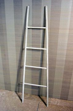 Painted timber ladder from our Spring 2013 Ivory and Ecru interior design scheme