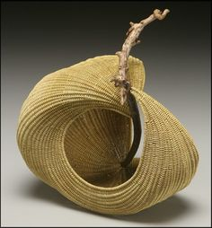 Basket sculptures woven with driftwood - gorgeous!