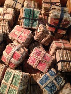 bundled stamps