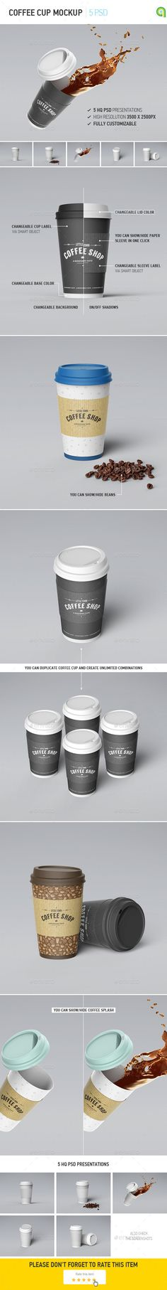 Buy Coffee Cup Mockup by Ayashi on GraphicRiver. You can show/hide paper sleeve in one click; Coffee Beans, Coffee Cups, Tea Cups, Drink Coffee, Coffee Coffee, Beverage Packaging, Coffee Packaging, Cafe Branding, Coffee Cup Design