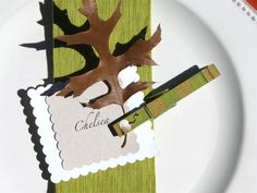THANKSGIVING PLACE CARD holder hand painted by SugarAndPaint, $10.00