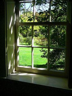 """Summer Day Through the Window"": Fine Art Print by Susan Savad - Looking out the window and seeing this perfect summer day, you can't wait to get out and enjoy it. #window #summer #landscape AS LOW AS $32"