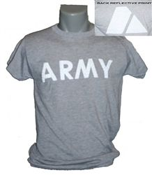 945a5f729 GENUINE MILITARY ISSUE US ARMY PT T-SHIRT WITH MOISTURE WICKING 100%  POLYESTER SILVER