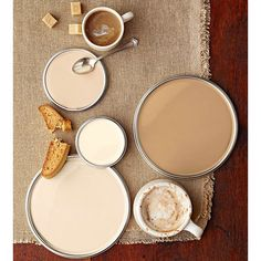 Neutral Paint Colors ❤ liked on Polyvore featuring backgrounds, brown, color palettes and colors