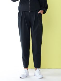 eaaa7344b1d3a Ania Schierholt Pegged Trousers with Stretch Waistband