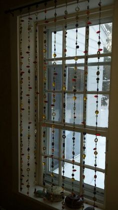 Linda's beaded window curtain