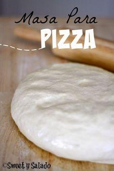 Sweet y Salado: Pizza Dough Pizza Hut, Pizza Dough, Pan Bread, Bread Baking, Pizza Gourmet, Pizza Recipes, Cooking Recipes, Kneading Dough, Fresh Bread